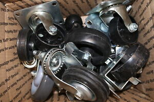 Lot Of Assorted Casters 16 Lbs