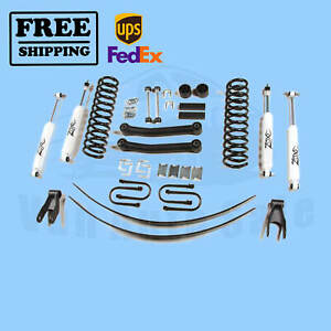 Zone 4 5 Lift Kit For 1984 01 Jeep Cherokee Xj 4wd Gas