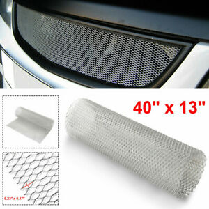 Aluminum Chrome Front Hood Vent Grille Net Mesh Grill Section Car Accessories Fits Jeep Liberty