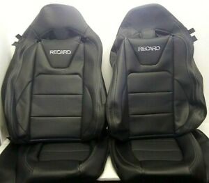 2015 2020 New Set Ford Mustang Gt V6 Coupe Black Leather Recaro Seat Covers