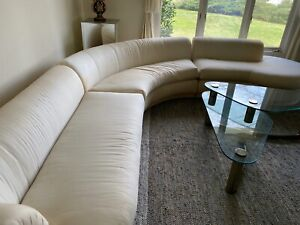 Large 3pc Sofa By Directional Cloud Style Mid Century Style 1980s