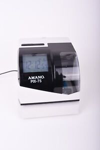 Amano Pix 75 Wall Mount Time Clock Recorder No Key tested And Working