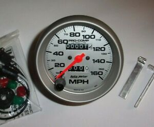 Autometer 4493 Pro Comp Ultra Lite 3 3 8 Mechanical Speedometer Gauge 0 160 Mph