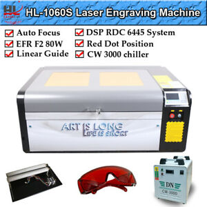 Hl Efr 80w 39 x24 Co2 Laser Cutting Machine Laser Cutter Engraver Us Ship