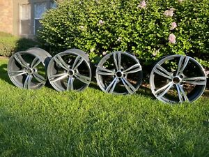 Set Of 4 Oem Used 20 Bmw M6 Rims Staggered 2 20x9 5j And 2 20x10 5j Good Shape