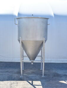 1250 Gallon Cone Bottom Stainless Steel Tank