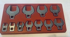 Snap On Tools 211fcoa 3 8 Dr Sae Open End Crowfoot 11pc Wrench Set