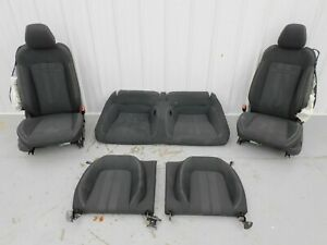 2018 2020 Ford Mustang Gt Black Cloth Seat Set Power Oem