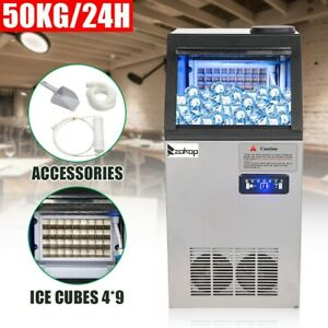 110lb Commercial Ice Maker Built in Undercounter Freestand 4 9 Ice Cube Machine