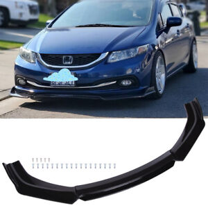 For 2010 2012 2011 9th Gen Honda Civic Si Front Bumper Lip Splitter Spoiler Trim