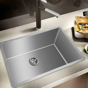 Stainless Steel Sink Wall Mount Hand Washing Sink Commercial Kitchen 32 19 10