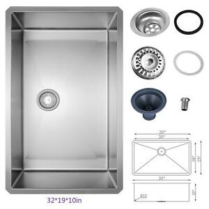 Stainless Steel Sink Wall Mount Hand Washing Sink Commercial 32 19 10 Kitchen