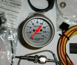 Autometer 4344 Ultra Lite 2 1 16 Egt Pyrometer Stepper Motor Gauge Kit W probe
