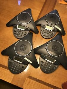 Polycom Soundstation Ip 6000 2200 15600 001 Conference Phone Set Of 4