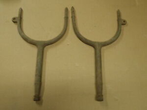Vintage Brass Era Headlight Forks Arms Oakland Buick Ford Model T Pair Lh Rh