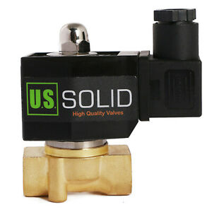 U s Solid 3 8 Npt Electric Solenoid Valve 12v Dc Normally Closed Brass