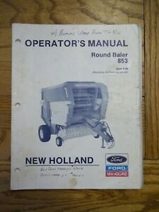 New Holland 853 Round Baler Owners Manual
