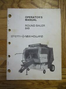 New Holland 849 Round Baler Owners Manual