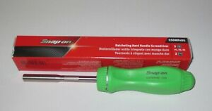 New Snap On Green Ratcheting Screwdriver Ssdmr4bg Green Hard Handle New In Box