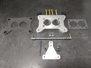 Jeep Cj 258 6cyl Carburetor Adapter Plate And Linkage Ford Motorcraft 2100 2150
