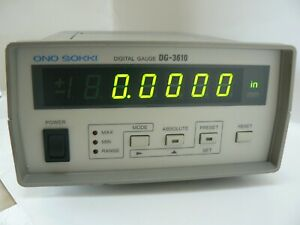 Ono Sokki Digital Gauge Dg 3610 Led Display Only Used Excellent Condition