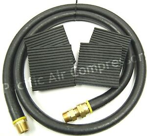 Champion Air Compressor Installation Kit 4 X 3 4 Mpt Hose W Mounting Pads