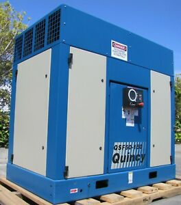Quincy 50hp Rotary Screw Air Compressor Water Cooled 460v 3 Phase