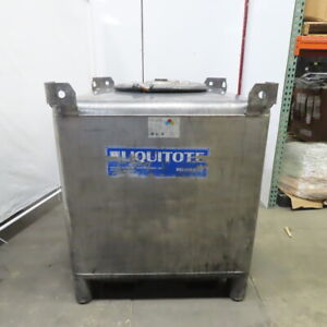 350 Gallon 304 Stainless Steel Liquid Tote Tank W fork Pockets