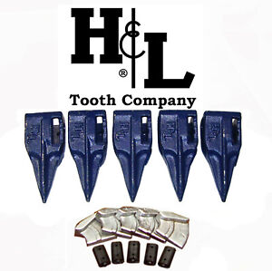 233st9 Bucket Teeth By H l Fits 230 Series Adapters Hammerless Conversion 233