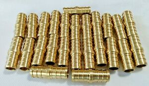New Efield 25 Count Lot 1 2 Pex Coupling Brass Half Inch Crimp Coupler Fitting