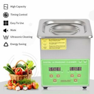 2 6l Professional Digital Ultrasonic Cleaner Machine W Timer Heated Cleaning Us
