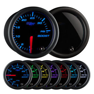Glowshift Tinted 7 Color 35 Psi Boost Gauge 52mm Gauge Gs T70135