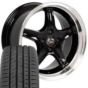 17x9 17x8 Rims Tires Fit Mustang Cobra R Black Machined Wheels Toyo Tires Set