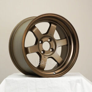 2 Pcs Only Rota Wheel Grid V 16x8 4x100 20 Speed Bronze