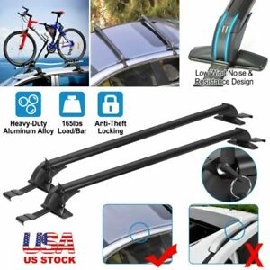 43 3 Universal Car Top Roof Rack Cross Bar Luggage Carrier Aluminum W Lock Us