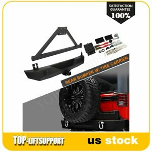 For Jeep Wrangler 2007 2016 2017 2018 Jk Rear Bumper With Tire Carrier D Ring