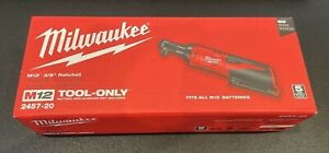 Milwaukee 2457 20 M12 12v 3 8 Inch Cordless Ratchet tool Only Brand New