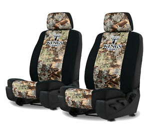Kings Camo Desert Shadow Front Seat Covers For A Pair Of Low Back Bucket Seats