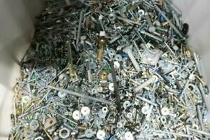 10 Lbs Bulk Assorted Loose Steel Fasteners Nuts Bolts Screws Washers