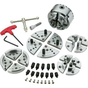 Grizzly T10809 3 3 4 Wood Lathe Chuck Set