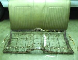 1967 1968 1969 Pontiac Firebird Chevy Camaro Deluxe Convertible Rear Seat Pair