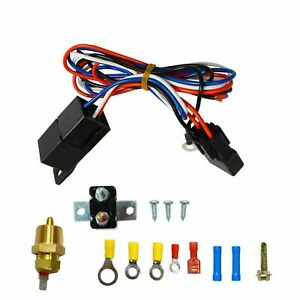 3 8 175 185 Electric Engine Fan Thermostat Temperature Relay Switch Sensor