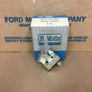 Nos Oem Mercury 66 Comet Cyclone Caliente C6gy 18578 a Heater Switch Assy