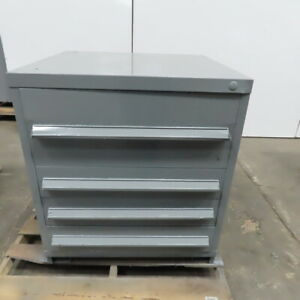 4 Drawer Industrial Parts Tool Storage Shop Cabinet 30 w X 28 d X 33 1 4 h