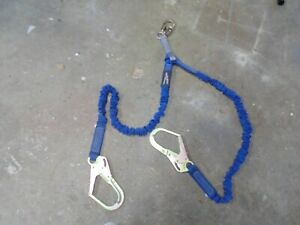 Fall Protection Safety Lanyard 4 6 Double Leg With Dual Rebar Hook