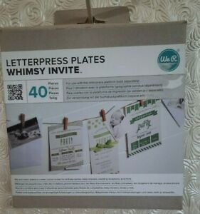 We R Memory Keepers Letterpress Plates Whimsy Invite 40 Piece Set