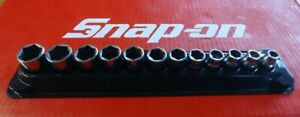 Snap On Tools 3 8 Drive 12 Pc Metric Shallow Chrome Socket Set 212fsmy 8 19mm