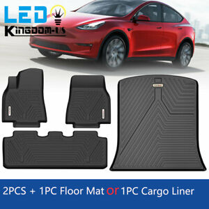 All Weather Front Floor Mats Rear Truck Liners Set For 2020 2021 Tesla Model Y