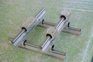 4 Rails 8 Blocks 300mm Sbr16 Linear Silde Rail Guide Shaft Sbr16uu