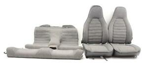 1983 Porsche 944 Driver And Passenger Front And Rear Seat Bench Gray Cloth Set